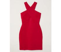 Kurzes Jerseykleid - Rot