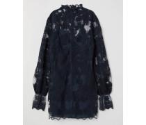 Kleid aus Baumwolle/EcoNyl® - Dunkelblau