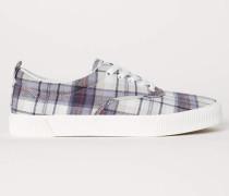Sneaker - Beige/Kariert