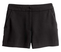 Shorts aus Kreppstoff - Schwarz