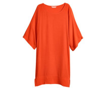 Kurzes Kleid - Orange