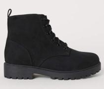 Boots mit Teddyfutter - Schwarz