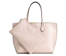 Shopper mit Clutch - Hellbeige