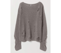 Pullover - Graumeliert