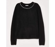 Pullover mit Strass - Schwarz