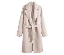 Gefilzter Mantel aus Wollmix - Beige