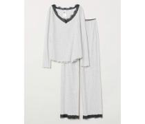 Pyjama - Hellgraumeliert
