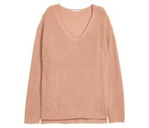 Pullover in Patentstrick - Beige