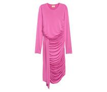 Drapiertes Kleid - Rosa