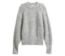 Pullover aus Mohairmix - Graumeliert