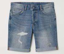 Jeansshorts Slim - Blau