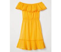 Off-Shoulder-Kleid - Gelb