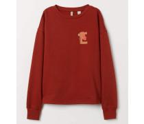 Sweatshirt mit Druck - Rostrot/SesamstraBe