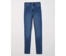 Super Skinny High Jeggings - Blau