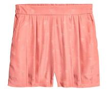 Shorts aus Jacquardstoff - Rosa