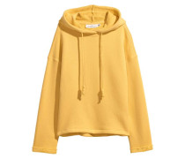 Weites Kapuzenshirt - Gelb
