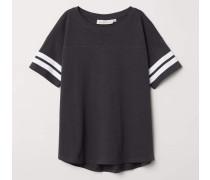 T-Shirt mit Streifen - Dunkelgrau