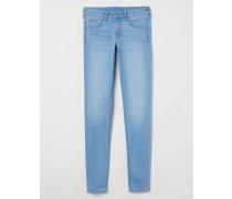 Super Skinny Low Jeans - Hellblau