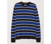 Pullover aus Wollmischung - Schwarz/Gestreift