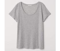 T-Shirt aus Lyocell - Graumeliert