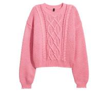 Pullover in Strukturstrick - Rosa