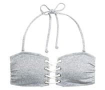 Bandeau-Bikinitop - Graumeliert
