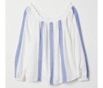 Off-Shoulder-Bluse - WeiB