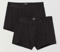 2 Trunks aus Pima-Baumwolle - Schwarz