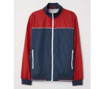 Jacke mit Stehkragen - Rot/Dunkelblau