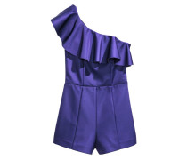 One-Shoulder-Jumpsuit - Kornblumenblau