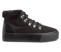 Sneaker mit warmem Futter - Schwarz