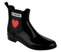 Chelsea Boots, Gummistiefel, Marken-Schriftzug, Herz-Motiv