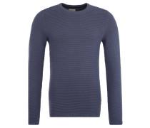 Pullover, reine Baumwolle, strukturiert, Rundhals