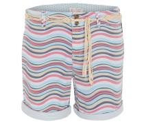 Shorts, Straight Fit, Allover-Muster, Gürtel