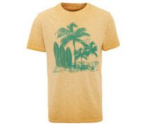 T-Shirt, Waschung, Tropical Print, Baumwolle