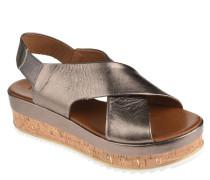 Sandaletten, Leder, Plateausohle, elastische Riemen