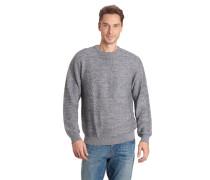 Pullover, meliert, gerippte Baumwolle, Rundhals