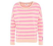 Sweatshirt, gestreift, Herz-Stickerei, Baumwolle