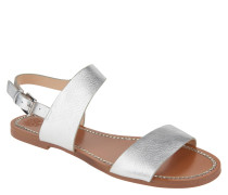 "Sandalen ""Rentin"", Metallic-Look, Leder"