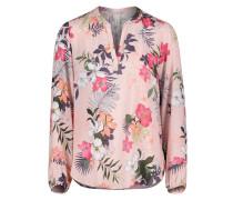 Casual-Bluse, Floral, Langarm