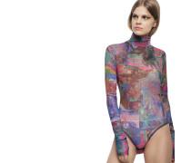 "Body ""NOELA"", Rollkragen, Multicolor, transparent"