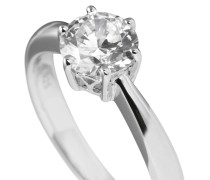 Ring, Sterling  925, -Zirkonia, 1,5 ct