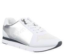 """Sneaker """"Taline"""", Metallic-Elemente, Marken-Schriftzug, Silber"""