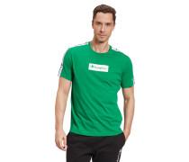 T-Shirt, Comfort Fit, Baumwolle, Logo-Print, Galonstreifen