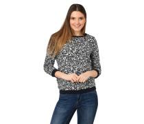 Sweatshirt, 3/4-Arm, Raffungen, florales Muster