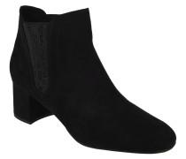 Ankle Boots, Strass, Blockabsatz