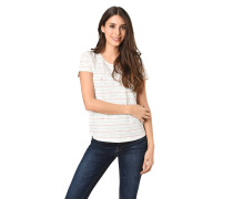 T-Shirt, Streifen-Print, Allover-Muster, Rundhalsausschnitt