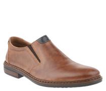 Slipper, uni, Leder, Used-Look, rahmengenäht, elastischer Schaft
