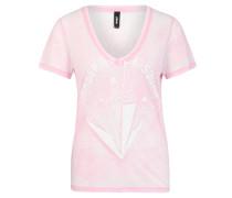 "T-Shirt ""Paula"", Print, V-Ausschnitt, Flammgarn"