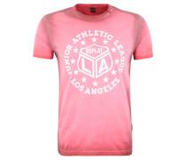 T-Shirt, reine Baumwolle, Used-Optik, Print